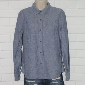 The North Face Womens Sz M Chambray Long Sleeve